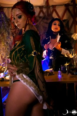 Triss And Yennefer By CloudedCalypso And LunaRaeCosplay