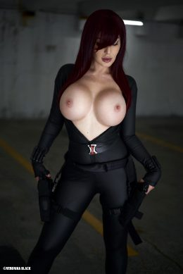 Veronika Black As Black Widow