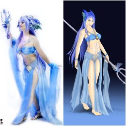 Water Nymph Cosplay & Illlustration. Credit: Masterpolypragmon Studios.